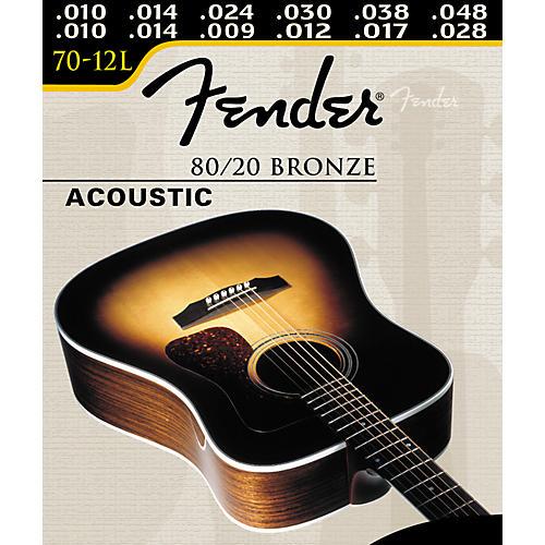 Fender 70-12L 12-String 80/20 Bronze Ball End Acoustic Guitar Strings