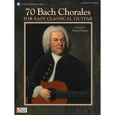 Cherry Lane 70 Bach Chorales for Easy Classical Guitar Easy Guitar Series Softcover Audio Online