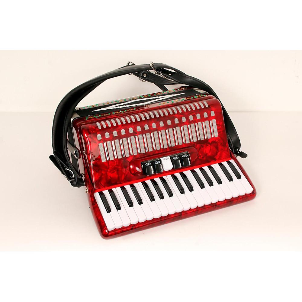 SofiaMari SM 3472 34 Piano 72 Bass Button Accordion Red Pearl 888365685342