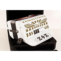 Used Sofiamari Smtt-3412, Two Tone Accordion White Pearl, Sol/Fa 190839040527