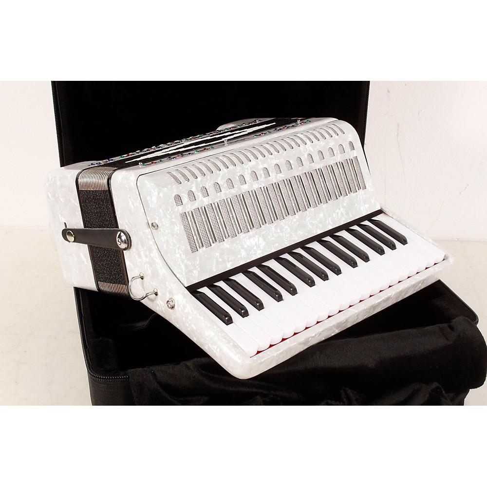 SofiaMari SM-3232 32 Piano 32 Bass Accordion White Pearl 190839039538