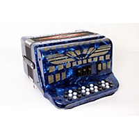 Used Sofiamari Sm-3412 34-Button 12-Bass Accordion Gcf Dark Blue Pearl 888365911304