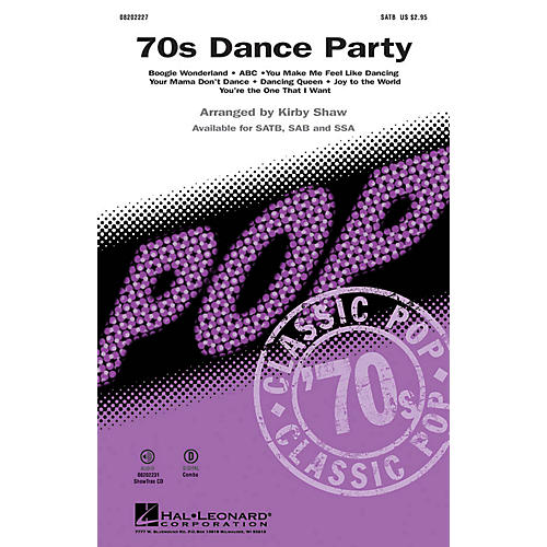Hal Leonard '70s Dance Party (Medley) SAB Arranged by Kirby Shaw