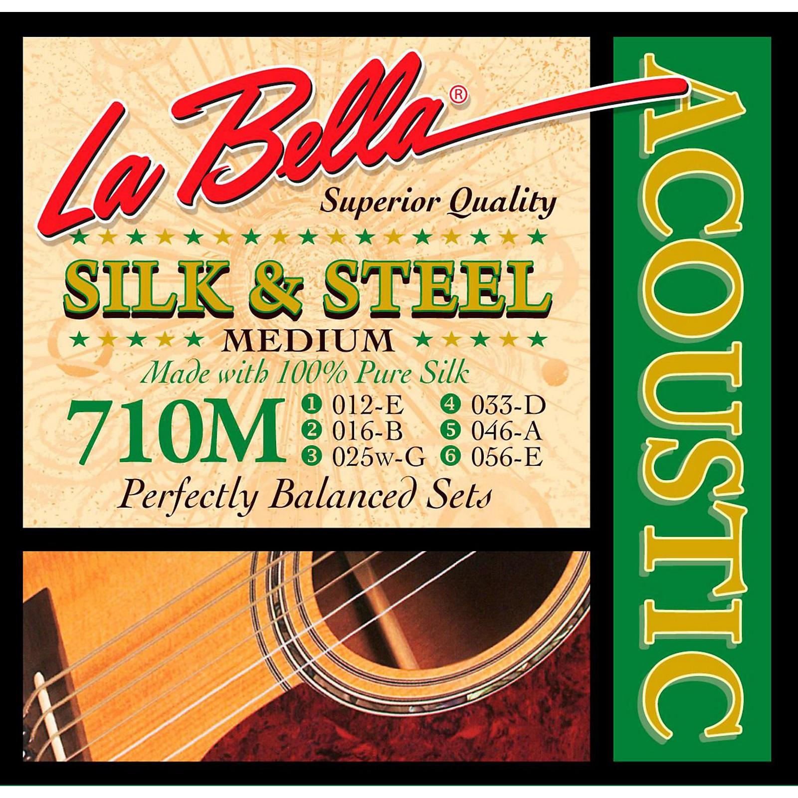 LaBella 710L Silk & Steel Light Acoustic Guitar Strings