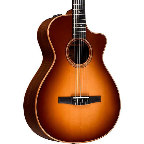 Taylor 712ce-N Grand Concert Nylon String Acoustic-Electric Guitar Western Sunburst
