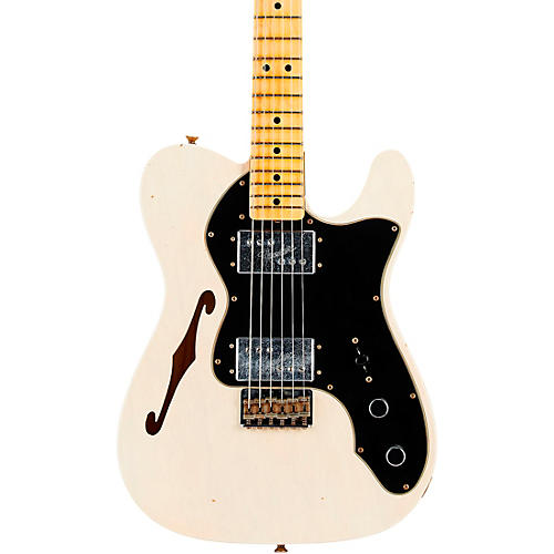 Fender Custom Shop 72 Telecaster Thinline Journeyman Relic Maple Fingeboard Limited Edition Electric Guitar Aged White Blonde