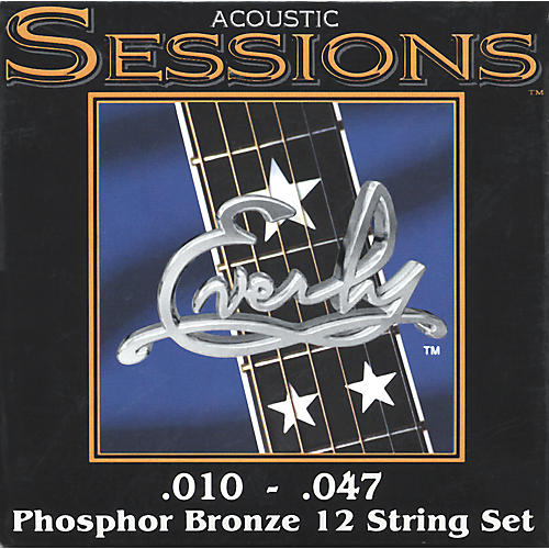 Everly 7210-12XL Acoustic Sessions Phosphor/Bronze Extra Light 12-String Guitar Strings
