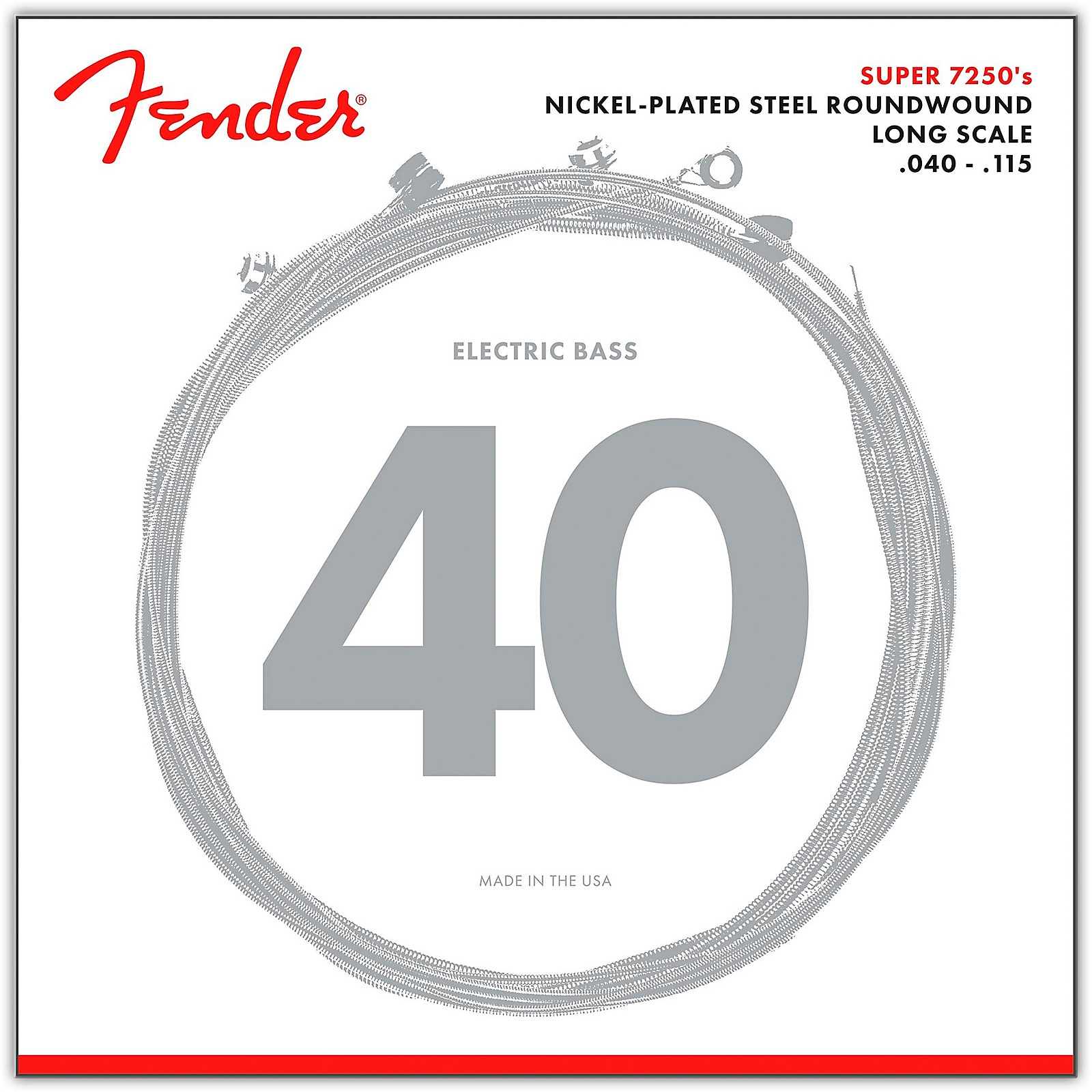 Fender 7250-5L Super Bass Nickel-Plated Steel Long Scale 5-String Bass Strings - Light