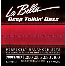 LaBella 760FHBB Beatle Bass Flat Wound Standard Electric Bass Strings