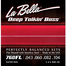 LaBella 760FL Deep Talkin' Bass Flat Wound Light Electric Bass Strings