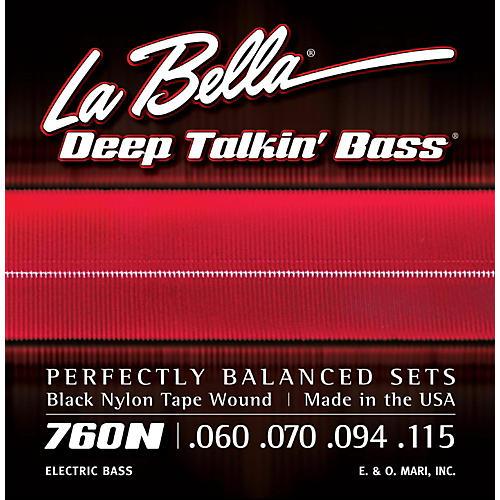 LaBella 760N Black Nylon Tape Wound Standard Electric Bass Strings