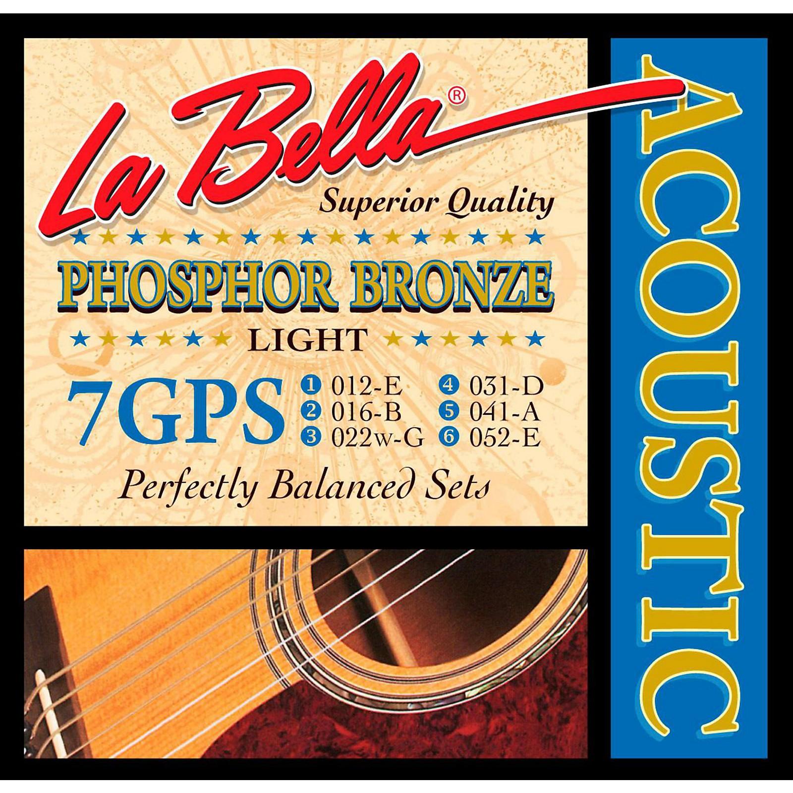 LaBella 7GPS Phosphor Bronze Light Acoustic Guitar Strings