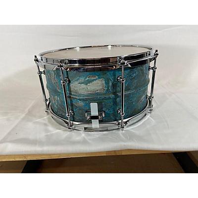 Pork Pie USA 7X13 Patina Brass Snare Drum Drum