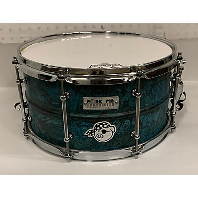 Pork Pie USA 7X13 Patina Brass Snare Drum