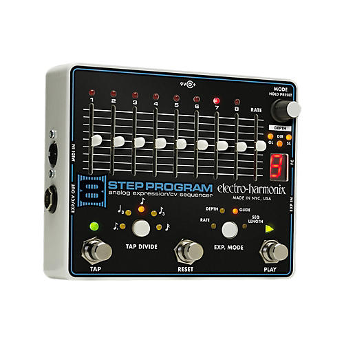 Electro-Harmonix 8-Step Program Analog Expression Sequencer Guitar Effects Pedal
