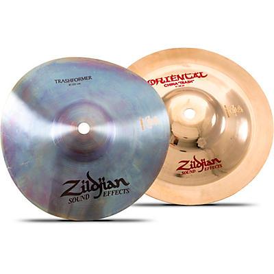 "Zildjian 8"" Trashformer + 8"" Oriental Trash Cymbal Set"