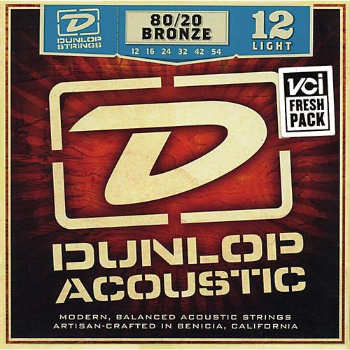 Dunlop 80/20 Bronze Light Acoustic Guitar Strings