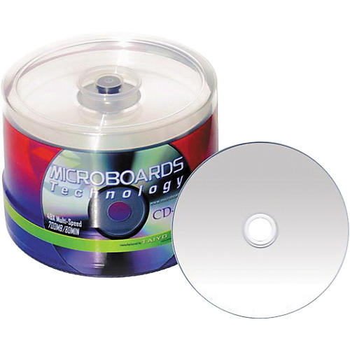 Taiyo Yuden 80 Minute/700 MB CD-R, 52X Silver Inkjet Hub Printable, 100 Disc Spindle