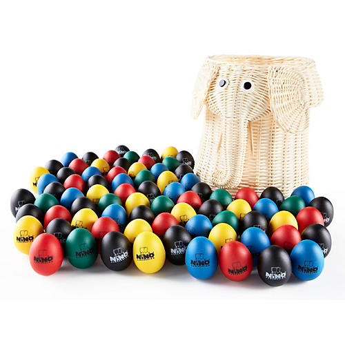 Nino 80-Piece Egg Shaker Assortment with Elephant Basket