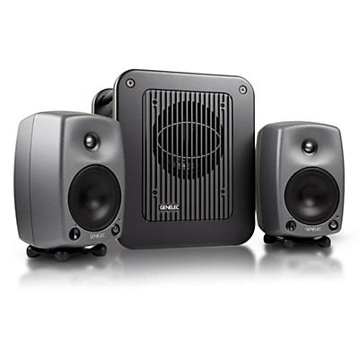 """Genelec 8030 LSE Triple Play with 8030B 5"""" Powered Studio Monitors (Pair) and a 7050B 8"""" Powered Studio Subwoofer"""