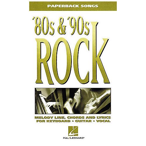 Hal Leonard 80s/'90s Rock Book