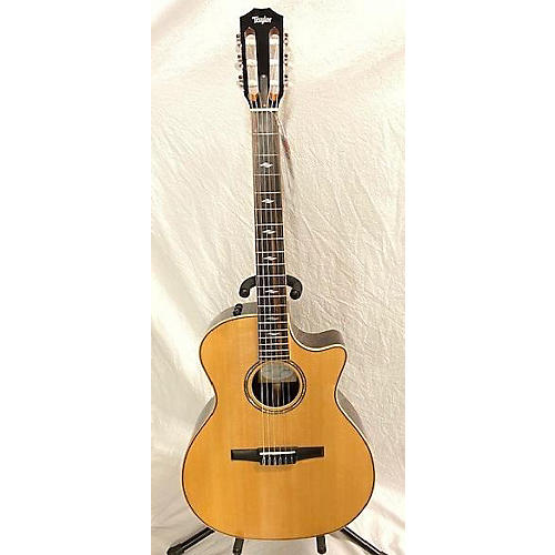 Taylor 814CEN Classical Acoustic Electric Guitar Natural