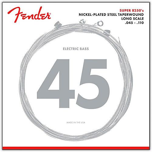 Fender 8250M Nickel-Plated Steel Taperwound Bass Strings - Medium