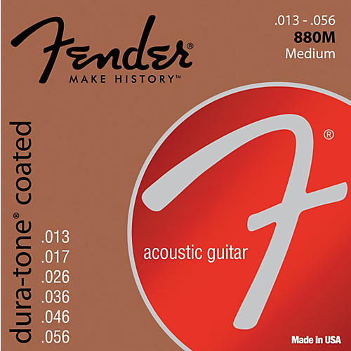 Fender 880M Coated 80/20 Bronze Acoustic Guitar Strings - Medium