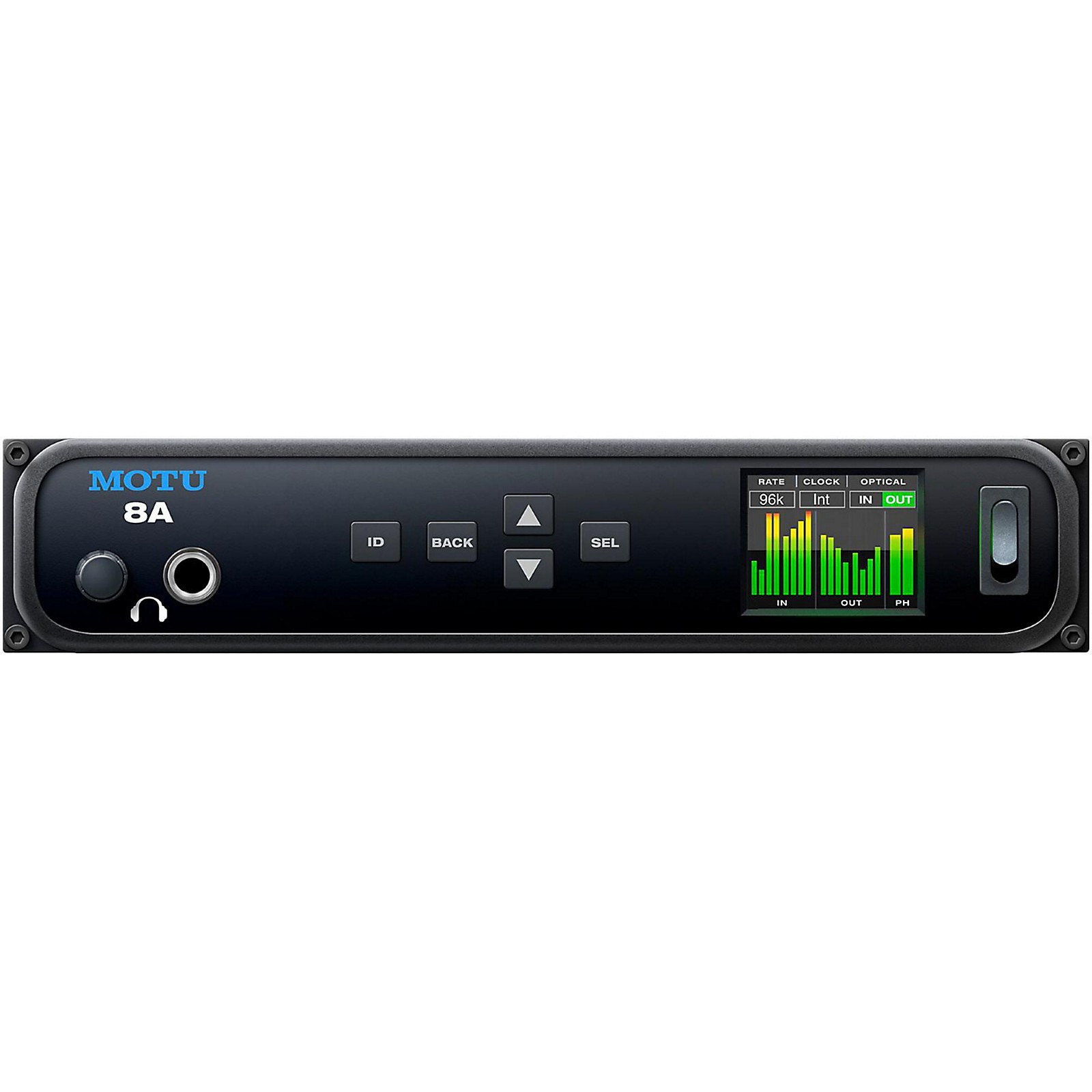 MOTU 8A Thunderbolt / USB3 / AVB Ethernet audio interface with DSP and mixing