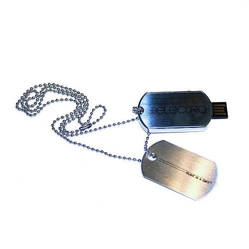 JoJo Electro 8GB USB Dog Tag Necklace