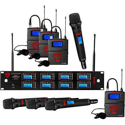 Nady 8W-1KU - Eight 1000-Channel Combo Wireless System