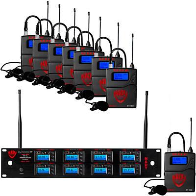 Nady 8W-1KU - Eight 1000-Channel Lavalier Wireless System