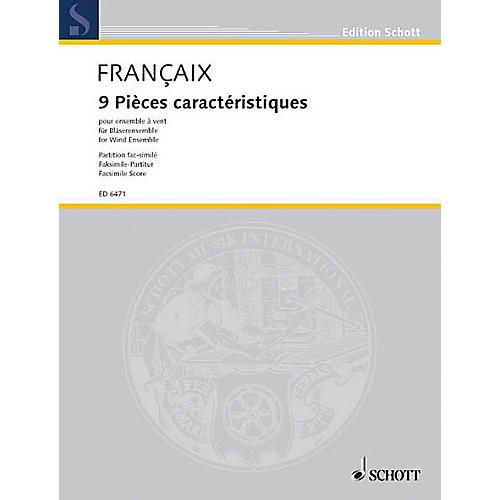 Schott 9 Pieces Caracteristiques (Score) Schott Series by Jean Françaix
