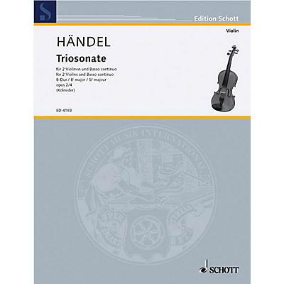 Schott Music 9 Trio Sonatas Op. 2, No. 4 Schott Series Composed by Georg Friedrich Händel