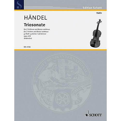 Schott Music 9 Trio Sonatas Op. 2, No. 8 Schott Series Composed by Georg Friedrich Händel