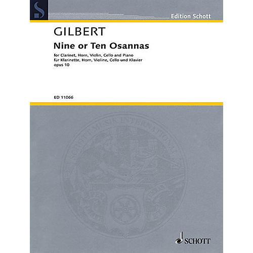 Schott 9 or 10 Osannas Op. 10 Schott Series Composed by Anthony Gilbert