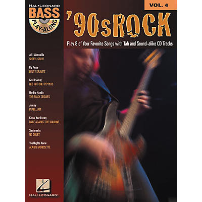 Hal Leonard 90s Rock Bass Play-Along Series Book with CD
