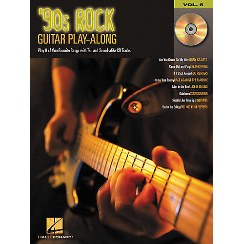 Hal Leonard 90s Rock Guitar Play-Along Series Book with CD