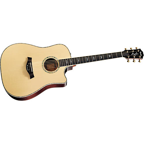Taylor 910ce-L Rosewood/Spruce Dreadnought Left-Handed Acoustic-Electric Guitar