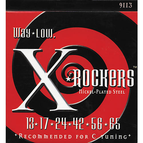 Everly 9113 X Rockers Lo Tune Drop C Electric Guitar Strings