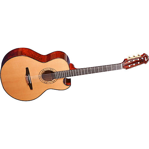 Wechter Guitars 9303C Florentine Cutaway Nylon String Acoustic-Electric Guitar