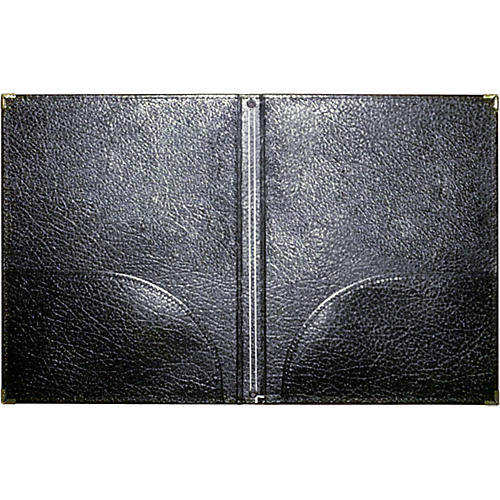 Deer River 9x12 Choral Leatherette folio w/bottom pocket and retainer strings