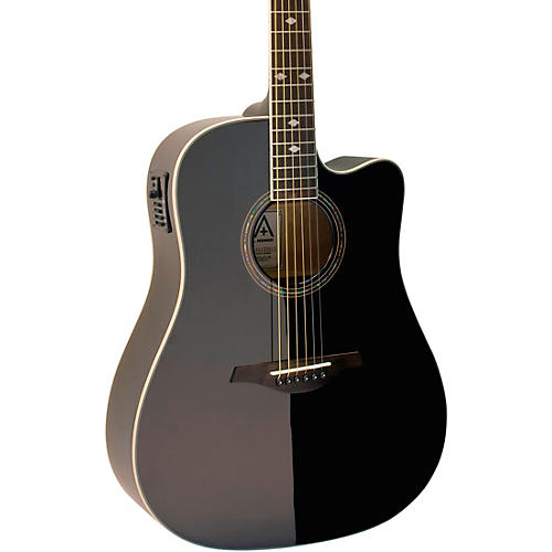 open box hohner a as355ce solid top cutaway dreadnought acoustic electric guitar with gig bag. Black Bedroom Furniture Sets. Home Design Ideas
