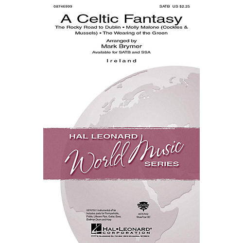 Hal Leonard A Celtic Fantasy SATB arranged by Mark Brymer