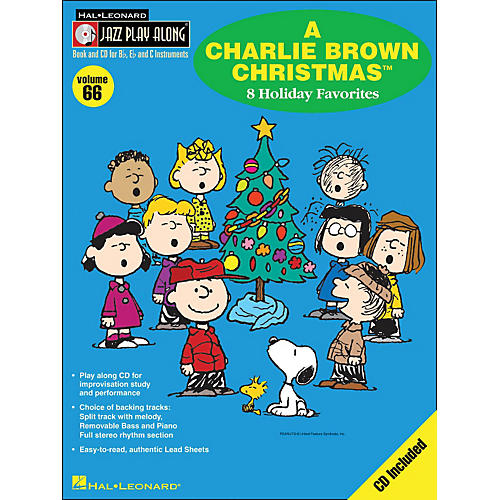 Hal Leonard A Charlie Brown Christmas - Jazz Play-Along Volume 66 BookCD