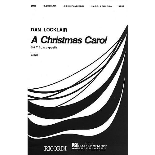 Ricordi A Christmas Carol (SATB a cappella) Composed by Dan Locklair
