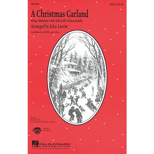 Hal Leonard A Christmas Garland (Medley) 2-Part Arranged by John Leavitt
