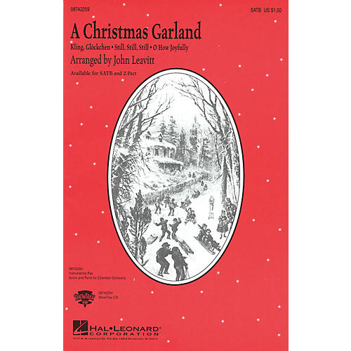 Hal Leonard A Christmas Garland (Medley) SATB arranged by John Leavitt