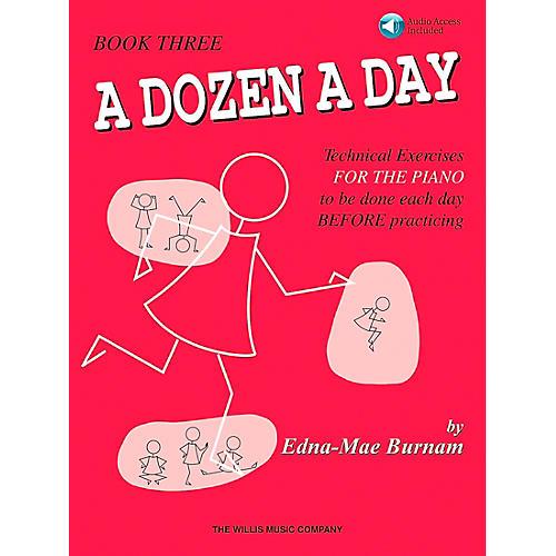 Willis Music A Dozen A Day Book 3 Book/CD Technical Exercises for The Piano