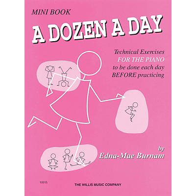 Hal Leonard A Dozen A Day Mini Book Technical Exercises For The Piano (Pink cover)